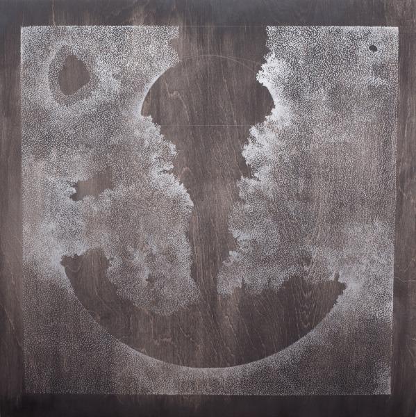 Acrylic on birch panel, 4 x 24 inches, 2013