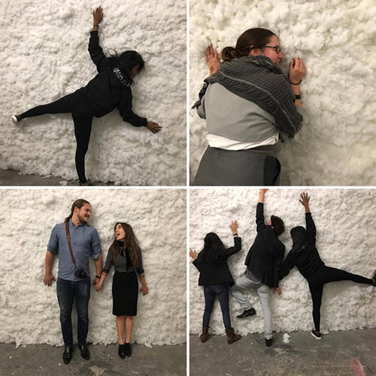 Pillow filler, drywall, mud, 168 x 120 x 8 in., 2017