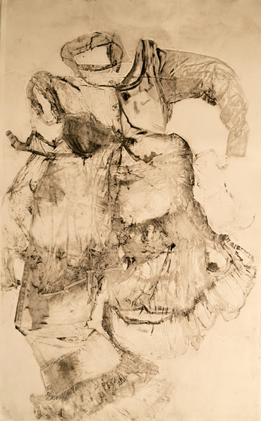 Collograph monoprint on paper, 48 x 42 inches, 2014