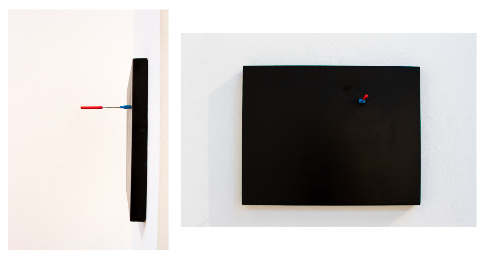 Powdercoated steel, magnetic metal attractor, 22 x 15 x 2.5 inches, 2013